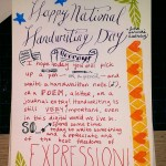 National Handwriting Day 2014