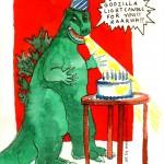 Birthday Godzilla