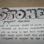 Stone Paper Review