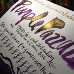 Diamine Shimmertastic - 2 Ink Review - Brandy Dazzle, Purple Pazzazz